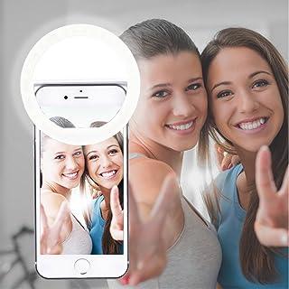 AUTOPkio Selfie la luz del Anillo la iluminación Recargable Selfie suplementario Mejora Nocturna Oscuridad Selfie 36 del Anillo de luz LED USB para la fotografía teléfonos Inteligentes(de Carga USB)