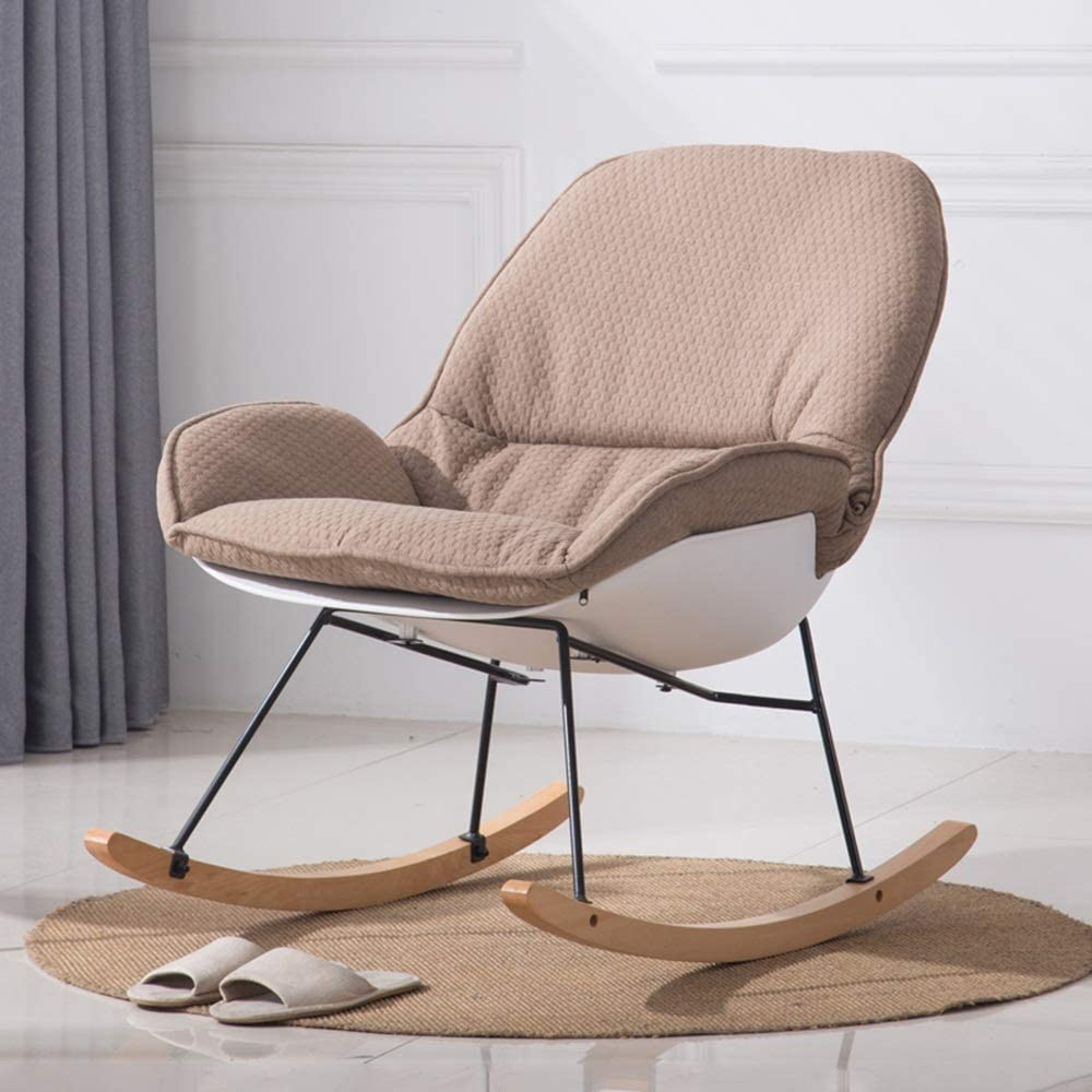 Chaise berçante avec accoudoirs et Dossier Coussin Amovible Fauteuil inclinable Relaxant pour Salon Coffee