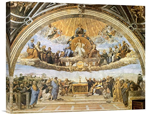 Global Gallery Budget GCS-373959-22-142 Raphael Dispute at The Eucharist Gallery Wrap Giclee on Canvas Wall Art Print