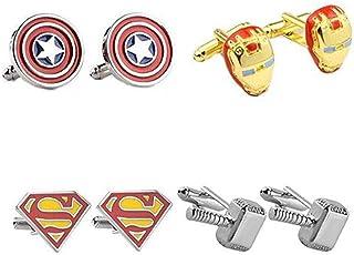 Boutons de manchette Superman-Super HEROS Mens T-Shirt Fashion Jewelry Boutons de manchettes pour mariage