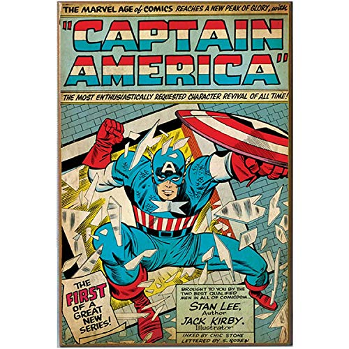 Silver Buffalo MC5736 Captain America New Series Comic Book Cover Wood Wall Art Plaque, 13 x19 inches