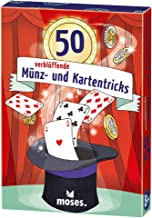 moses. Verlag GmbH 30244 50 verblüffende Münz und Kartentricks | Kinderbeschäftigung | Kartenset, bunt