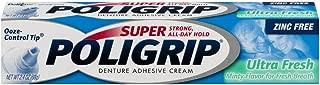 SUPER POLIGRIP Denture Adhesive Cream Ultra Fresh 2.40 oz (Pack of 4)