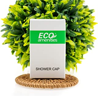 ECO Amenities Disposable Shower Caps for Home Hotel Vacation Rental Hair Salon, Individually Boxed Package, Full Size Adul...