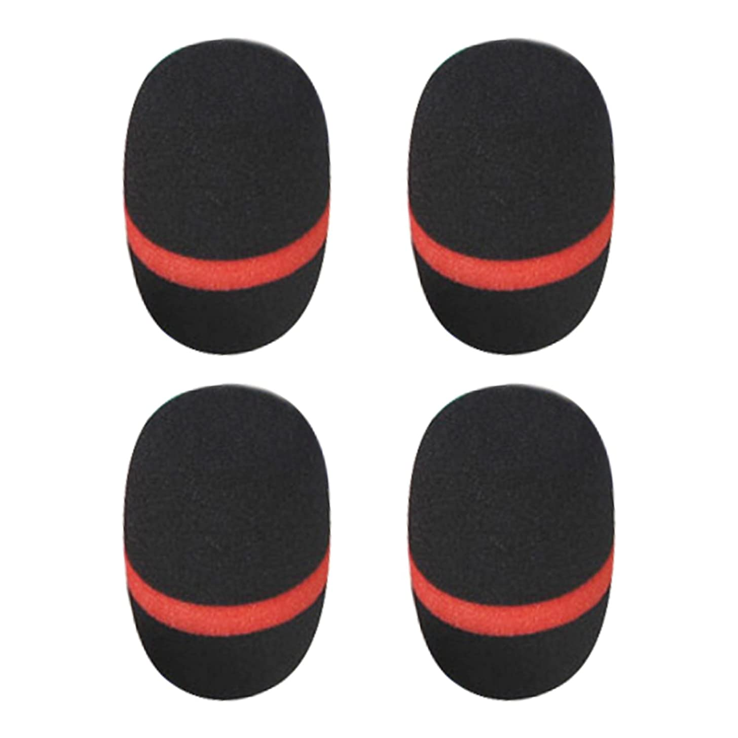 UOOOM 4 pcs Colorful Handheld Microphone Foam Cover Large Mic Windscreen (Black)