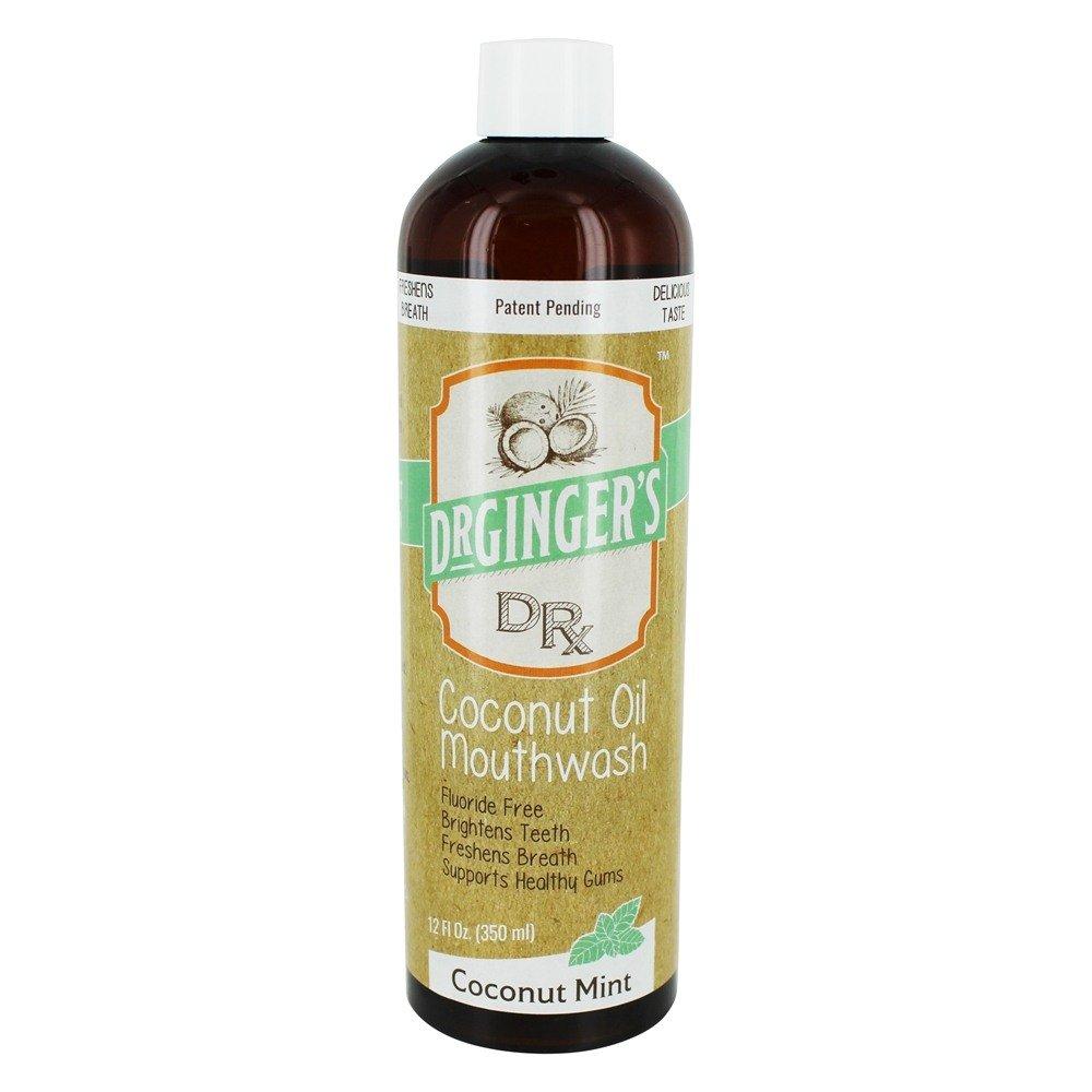 Dr Ginger'S Mouthwash Ranking TOP1 Coconut Oil Fl Save money 12 Mint Oz