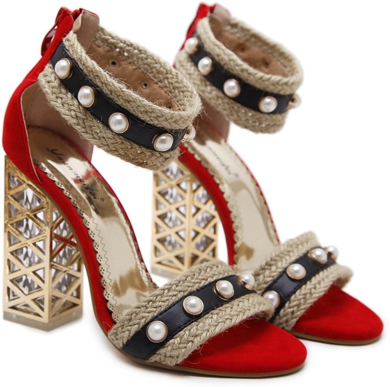 2018 Neue Damen High Heels Casual Peep Toe Schuhe Sexy Sexy Sexy Damenschuhe Wilder Trend Sandalen Braut High Heel Damen Hochzeit Schuhe Party Schuhe (Farbe   Rot, Größe   Us5.5 eu36 uk3.5 cn35) B07BKX88W9 - Preisrotuktion 2906d5