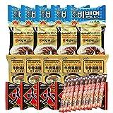 Korean Hit K-Foods Paldo Noodle Ramen Variety Pack w/ Instant Coffee Mix Box, Bibimmen, Jjajangmen,...