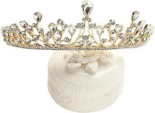 RKY Ragazze Corona, for Bambini Corona Copricapo Principessa Girl Corona di Cristallo Fascia Parte Superiore della Perla A...