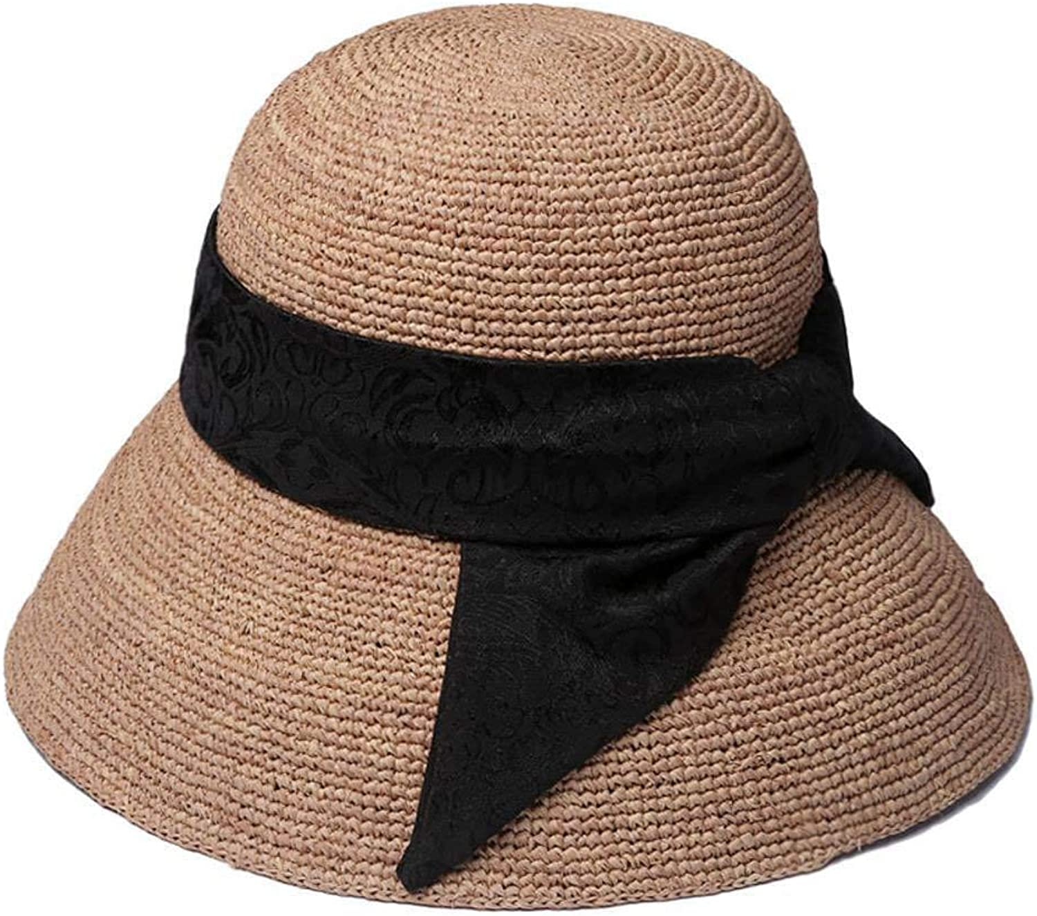 Yunfeng Hats for Ladies,Spring and Summer Lady's Straw hat Outdoor Lafite Sunscreen Sun Visor