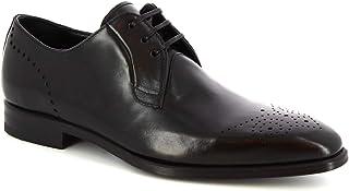 Leonardo Shoes Scarpe Francesine Stringate da Uomo Artigianali in Pelle Nera - Codice Modello: 07137 Montecarlo Nero