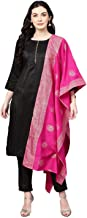 Cenizas Women's Faux Polyester Silk Kurta with Palazzo Pant & Embossed Dupatta Set