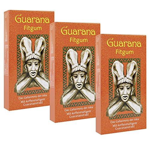 BADERs Guarana Fitgum della farmacia. Gomma da masticare per avere più energia con la caffeina al guaranà. 3 x 24 gomme