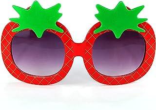 CHHNGPON - CHHNGPON Gafas de Sol para niños Nueva Forma de Fresa niños Gafas de Sol Lindas Estilo de Dibujos Animados Gafas bebé Rosa Gafas Gafas para Excursionismo Ojo Protector (Lenses Color : Red)