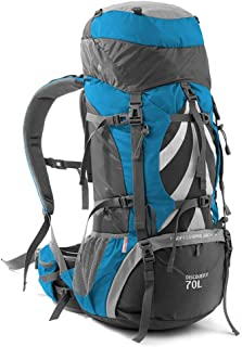 Outdoor Mountaineering Bag Hiking Camping Backpack Multi-Function Travel Backpack Large Capacity Tear Resistance Annacboy (Color : Blue)