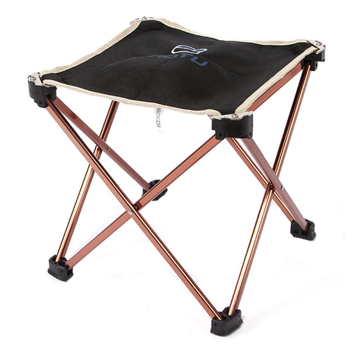 Bry Protable Folding Stool Aluminum Oxford Cloth Stool Chair For Camping Fishing Traveling Beach