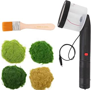 Yorten ABS Antiskid Handle Mini Static Grass Flocking Applicator with 4 Colors of Grasspowders for DIY Scenic Modelling Sa...