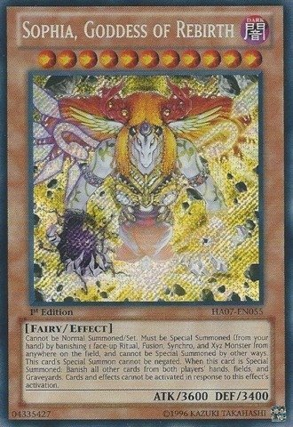 YU-GI-OH! - Sophia, Goddess of Rebirth (HA07-EN055) - Hidden Arsenal 7: Knight of Stars - 1st Edition - Secret Rare