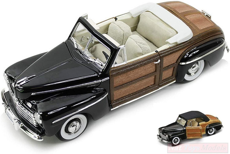 Lucky Die Cast LDC20048BK Ford Sportsuomo Converdeible 1946 nero Woody 1 18 modello Compatibile con