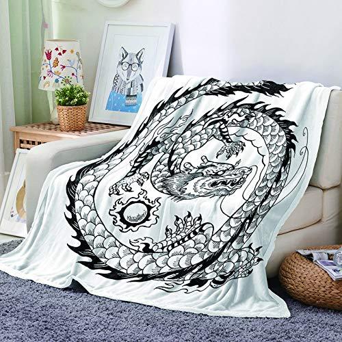 Manta con Patrón De Impresión Digital 3D Manta De Franela Gruesa Adecuado para Mantas De Sofá En Hoteles, Dormitorios Y Salas De Estar Manta Fácil De Doblar