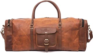 Leather Native Duffel Bag Large 28 inch Travel Bag Gym Sports Overnight Weekender Bag Summer Sale