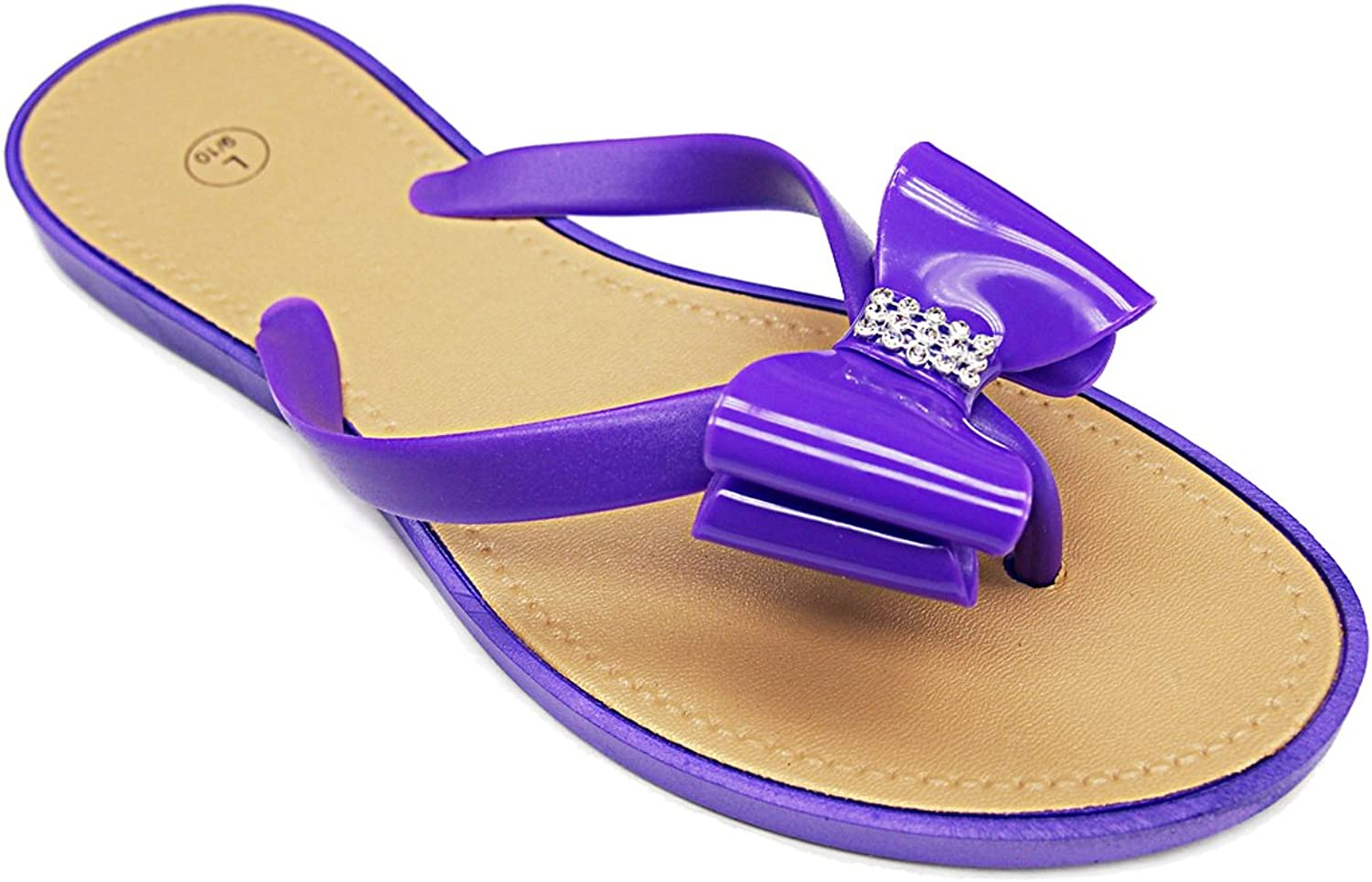 101 BEACH Embellished Strap with Bow Ladies Sandals