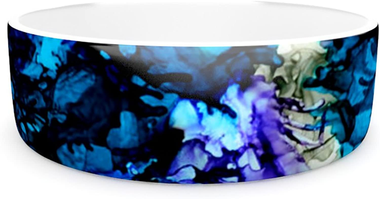 Kess InHouse Claire Day Evanescence  Pet Bowl, 7Inch, bluee Rainbow
