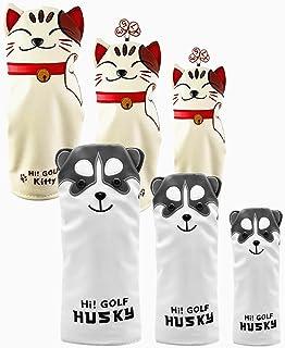 Sunbro Golf ヘッドカバーゴルフ キャラクター Headcoversドライバーカバー ウッドカバー ユーティリティカバー パターカバー 子犬/子猫
