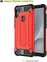 جراب Cocomii Commando Armor Xiaomi Redmi Note 5/Note 5 Pro جراب جديد [شديد التحمل] مقاوم للصدمات ومقاوم للأتربة [حامي عسكري] غطاء صلب كامل للجسم لهاتف Xiaomi Redmi Note 5 (C.Red)
