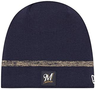 quality design f2ffa 8abfc New Era MLB Milwaukee Brewers Clubhouse Stocking Knit Hat Beanie Skull Cap  Navy