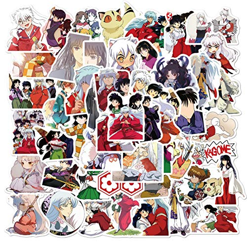 Inuyasha Japanese Anime Stickers 50pcs Laptop Waterproof Vinyl Stickers for Kids Girls Teens Adults (Dearest)