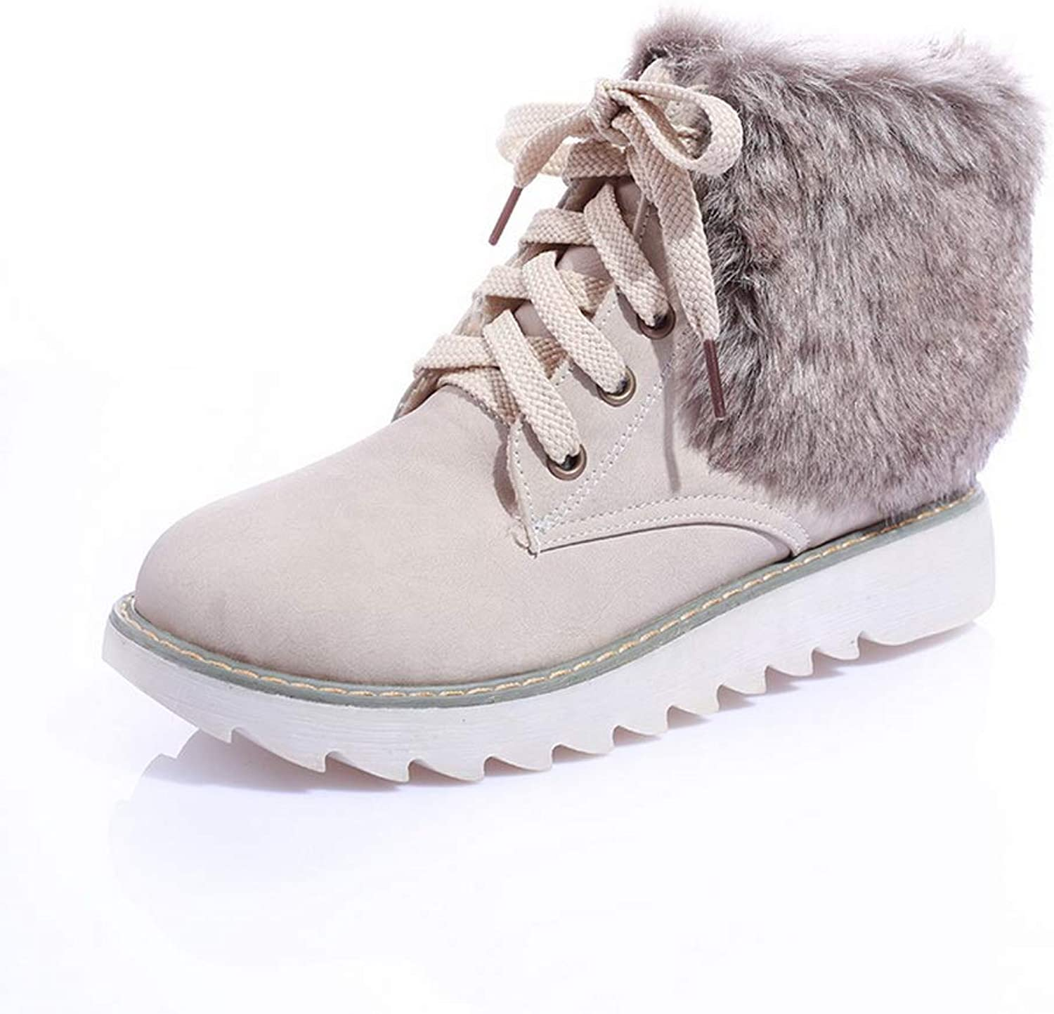 1TO9 Womens Fringed Structured Lace-Up Urethane Boots MNS02692
