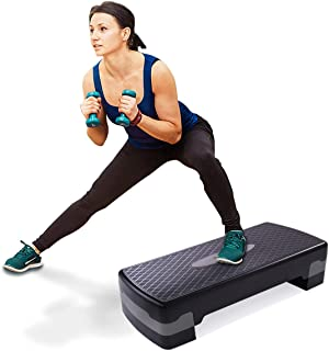 "BWM.Co Fitness Aerobic Stepper 27"" Adjustable Risers 4"