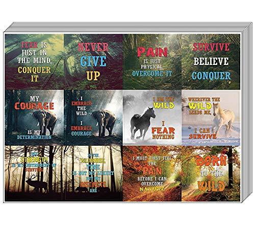 Quote Creanoso Survivalist Nature Stickers (20 vel) - Premium Gift Set - Inspirerende Survival Word Gezegden voor mannen, vrouwen, volwassenen, Survivalist, Adventurer - Twaalf diverse ontwerpen Pack