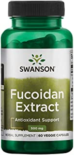 Swanson 100% Pure Maximum-Strength Fucoidan Extract 500 Milligrams 60 Veg Capsules