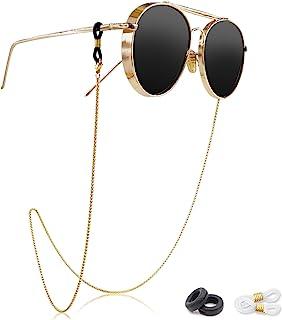 Eyeglass Chain - Kalevel Stainless Steel Sunglass Strap Eyeglass Strap Holder (Gold)