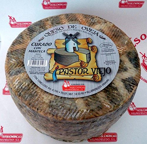 Queso de oveja PASTOR VIEJO Curado con Manteca Roblemancha 3 Kg
