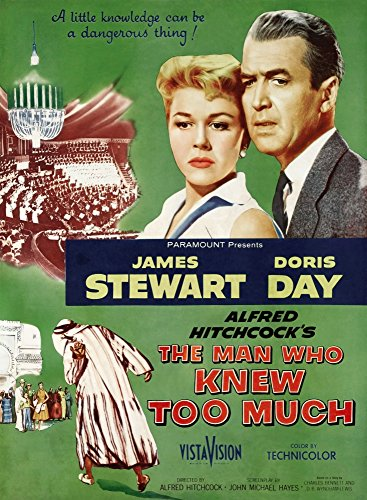 Posterazzi The Man Who Knew Too Much Top from Left: Doris Day James Stewart 1956. Movie Masterprint Poster Print, (11 x 17)
