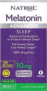 Natrol Melatonin Advanced Sleep Tablets with Vitamin B6, Helps You Fall Asleep Faster, Stay Asleep Longer, 2-Layer Control...