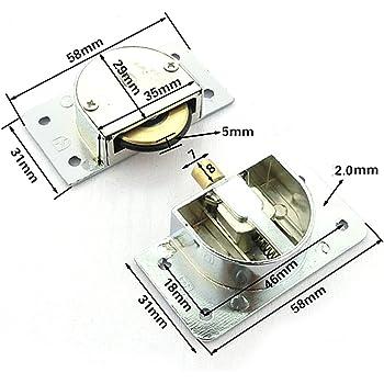 YuanQian YQ-1063 338 - Rodamiento de puerta corredera de armario, rueda de nailon: Amazon.es: Bricolaje y herramientas