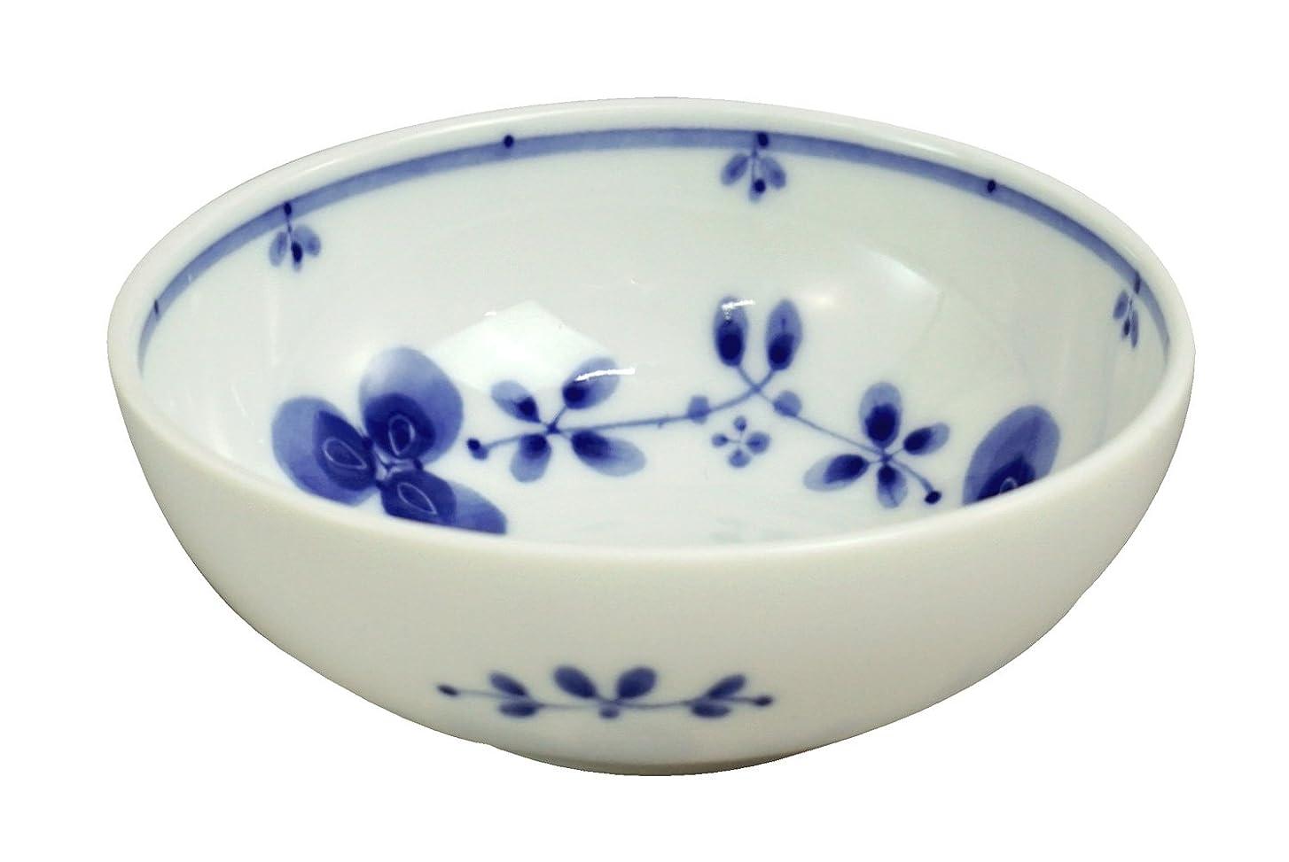 成長する容赦ない楽なみのる陶器 藍つづり うすかる4寸小鉢