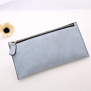 LUOTINGRUI New explosion retro scrub two fold belt ladies long wallet multi-card ladies wallet