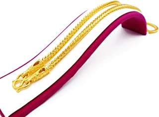 Unisex Necklace 23k 24k Thai Baht Yellow Gold Plated Chain Necklace Size 24 Inch 50 Grams 5 mm