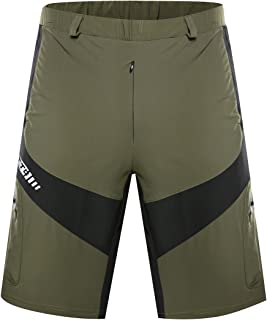 YASHALY Mountain Bike Shorts, Breathable MTB Cycling Baggy Pants Quick Dry Downhill Loose Shorts for Men