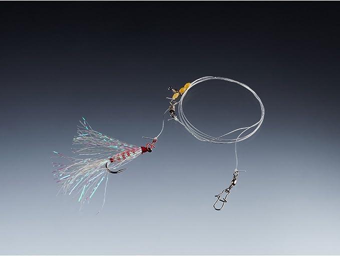 Montage 6 Balzer Meerforellen Vorfach Garnele weiß 85cm 0,28mm Gr Vorfach