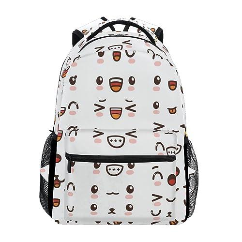 8fbbc3a55d JSTEL Cute Lovely Kawaii Emoticon Emoji School Backpacks For Girls Kids  Elementary School Shoulder Bag Bookbag