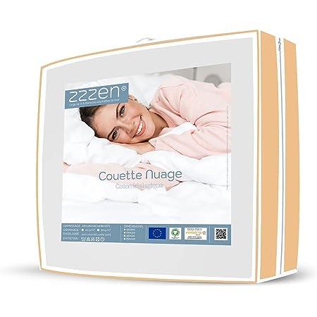 Couette 100% Coton Bio Mi-Saison 300 g Chaude à tempérée idéale pour l'inter-Saison - 300 g/m² - Enveloppe et garnissage Coton Bio labelisé GOTS - 220x240 cm