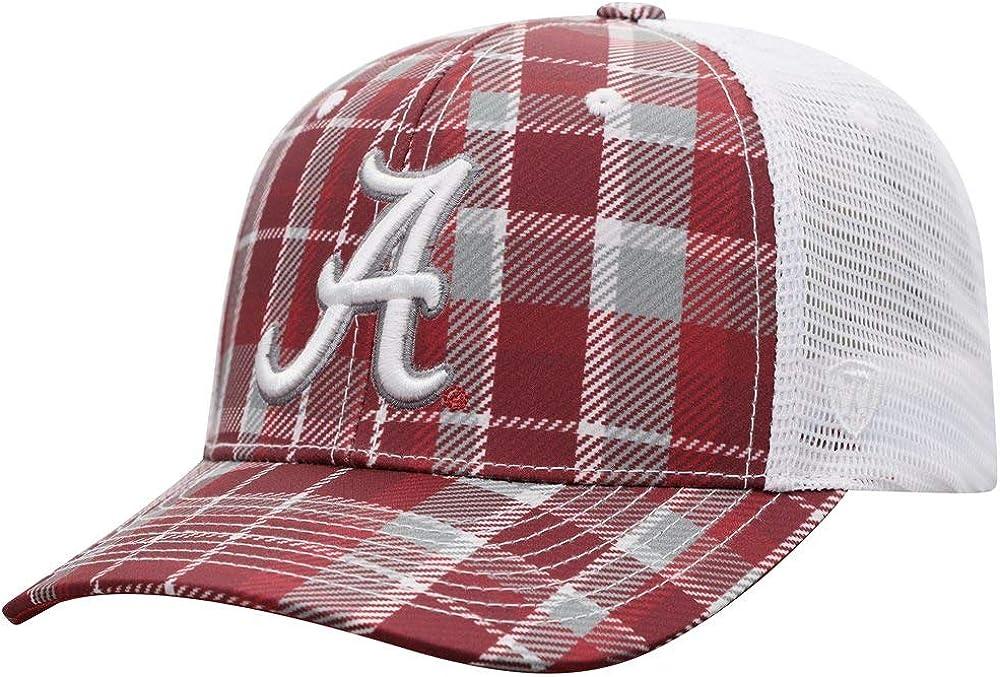 Alabama Red/White Plaid Big Boy BB Mesh Trucker Mens/Womens Adjustable Hat/Cap