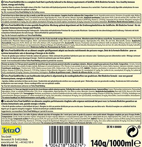 Tetra Pond Goldfish Mix Premium Hauptfutter (Futtermix aus besten Flocken), 1 Liter Dose - 4