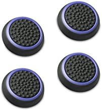 Fosmon [Set of 4] Analog Stick Joystick Controller Performance Thumb Grips for PS4 | PS3 | Xbox One | Xbox 360 | Wii U (Black & Blue)